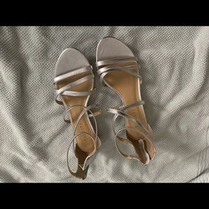 Silver strappy Sandals from Talbots 9 1/2